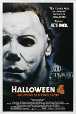 Halloween 4 The Return of Michael Myers - A4 Laminated Mini Movie Poster