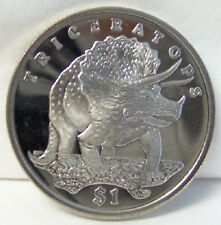 Sle Triceratops Dinosaur 2006 Cuni Coin Uncirculated New
