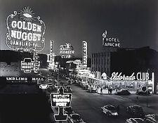 "Old Las Vegas 1950s Golden Nugget Eldorado Boulder Savoy-17""x22"" Art Print-00176"