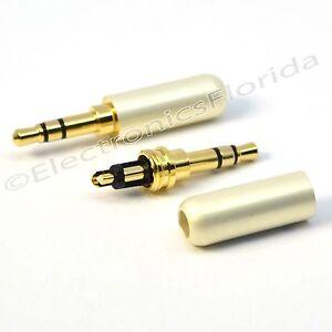 Lot 3.5mm 3 Pole Male Repair headphone Jack Plug Metal Audio Soldering  US -b231