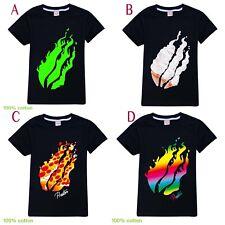PRESTONPLAYZ Pizza Flame boys black blue green summer tee t-shirt top size 5-12