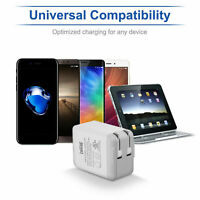 Dual Port USB Fast AC 2.4A Travel Wall Charger Charge for Samsung LG iPhone 6 7