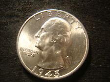 1945-D  BU GEM BU Washington Head Quarter Nice Looking Coin SXS