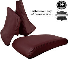 MAROON LEATHER SHIFT E BRAKE BOOT ARMREST COVER FITS TOYOTA SUPRA MK3 86-92