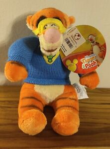 Disney Super Sleuth My Friends Tigger & Pooh plush bean bag doll NEW with tags