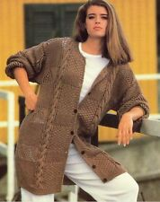 Knitting Pattern Lady's Fab lunga linea DK Cardigan Cavo 97-112 cm (92)