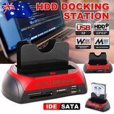 "HDD Docking Station Dual Hard Disk Drive Enclosure 2.5""/3.5"" IDE/SATA USB 2.0 AU"
