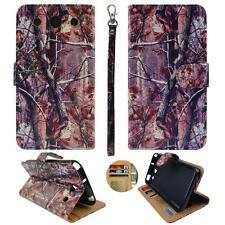 For LG Optimus G Pro E980 Am Wallet Camo Pinetree Split Leather Case Cover