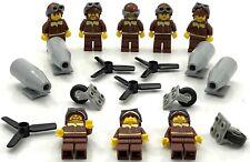 Lego 8 New Pilot Minifigures Aviator World War 1 2 Airplane Flight Figs More