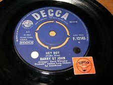 BARRY ST JOHN - HEY BOY - I'VE BEEN CRYING   / LISTEN - SOUL POPCORN