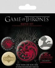 GAME OF THRONES Official Pin Backed Badge Pack FIRE AND BLOOD