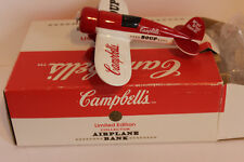 Campbell Soup Collectible  1993 Airplane bank 2nd in series