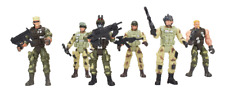 SET OF 6 ELITE SPECIAL FORCES ACTION FIGURE 4'' HIGH with ACCESSORIES 1:18 scale