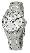 FESTINA F16171/1 Unisex Edelstahl Armband Uhr mit Datumsanzeige neu