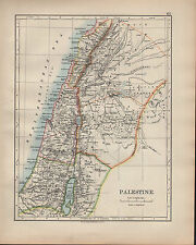 1902 MAP ~ Palestina ~ Giudea Samaria GALILEA decapoli