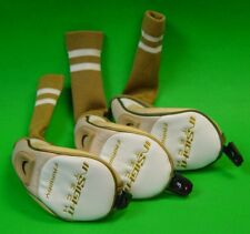 Lot Of 3 Adams Golf Insight Tech Beige/White Fairway Wood Headcovers
