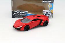 Lykan hypersport de la película Fast and Furious 7 2015 rojo 1:24 jada Toys