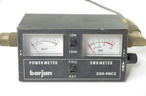 Black Barjan 300-PDC2 ~ Power Meter SWR Meter 10-100 Watts