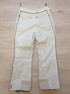 Authentic Prada Gray Ski Gore tex Pants Women Sz 40 Snow Winter Trousers Red Tab