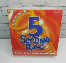 University Games 5 Second Rule Board Game - BOX-04475 New & Sealed