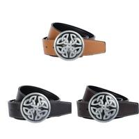 Mens Celtic Knot Belt Buckle And Leather Belts for Formal Casual Clothing