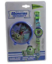 Monsters University Digital Reloj De Pulsera & despertador SET REGALO - NUEVO