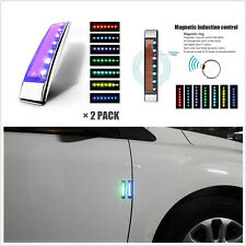 2 Pcs Universal Solar LED Car Body Door Edge Anti-rub Protector Bar Warning Lamp