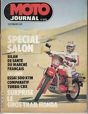 "MOTO JOURNAL N° 573 OCTOBRE 1982 ""SPECIAL SALON / 500 KTM"""