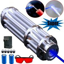 Military Blue Laser Pointers Visible Beam Light Army Flashlight Powerful 50000m