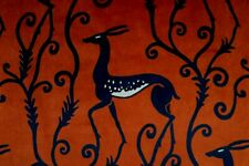 """Zoffany Curtain Fabric Design """"Deco Deer Velvet"""" 1.9 Metres Sahara Velvet"""