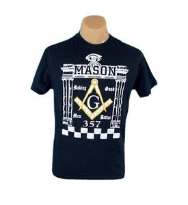 Mason ~ Masonic ~ Good Men Men's Black T-Shirt ~ Size Medium M Masonry