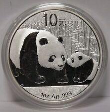 2011 China Chinese Panda 1 Oz .999 Silver 10 Yuan Coin