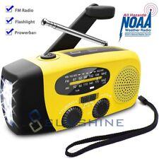 Solar Hand Crank AM/FM/NOAA Weather Radio Emergency LED Flashlight USB Charger