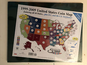 1999-2009 United States Coin Map Brand New