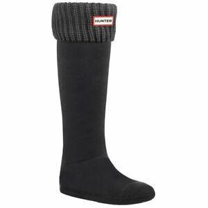 NIB Hunter Original 6 Stitch Cable Knitted Cuff Tall Boot Socks UAS3004AAC Sz L