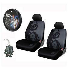 New Star Wars Darth Vader Car Truck 2 Front Seat Covers Steering Wheel Cover