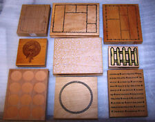 Lot of 9 Craft Rubber Stamps Inkadinkado All Night Media Hero Arts Others