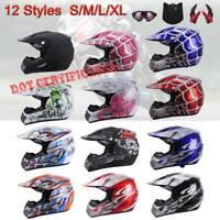 DOT Youth Kid Adult Helmet Dirt Bike ATV UTV Off Road Full Face Motorcycle SMXL