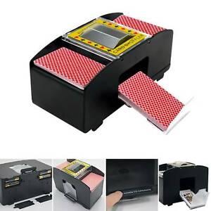 Automatische Kartenmischmaschine 2 Decks Kartenmischgerät Poker Mischmaschine