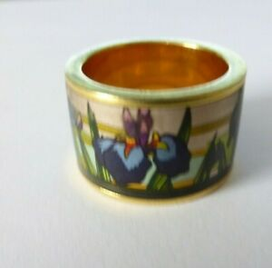RING DIVA HOMMAGE A MONET IRIS FREY WILLE STYLE UNSIGNED SIZE P GOLD PLATED