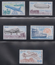AV159 - ST PIERRE & MIQUELON STAMPS 1987/88/89 AVIATION AIRMAIL AIRPLANES MNH