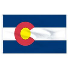 2x3 Colorado Flag SuperPoly Flag 2'x3' House Banner Brass Grommets 150 Denier