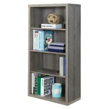 "Indigo Home Bookcase 48""H, Dark Taupe with Adjustable Shelves - I7060"