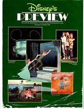 Disney's Preview Magazine Peter Pan Maroon Toon ©1989 ~