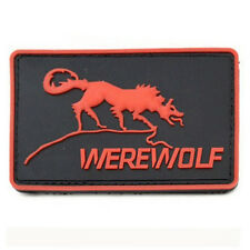 Tactical WEREWOLF USA ARMY PVC PATCH Hook Loop PATCHES Morale BADGE