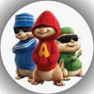 Tortenaufleger Geburtstag Tortenbild Fondant Oblate Alvin und die Chipmunks L4