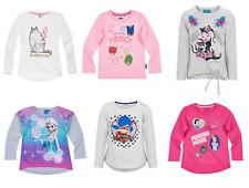Girls Kids Official Licensed Disney Various Long Sleeve T Tee Shirt Top 2 - 12