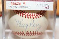 """""""HOF 2000""""Autograph Tony Perez Official Rawlings Major League Baseball w/ COA -"""