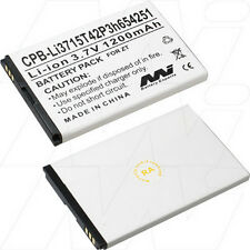 3.7V 1.2Ah Replacement Battery Compatible with ZTE Li3715T42P3h654251