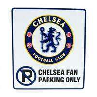 Official CHELSEA FC Metal No Parking Sign 23cm x 25cm CFC Gift